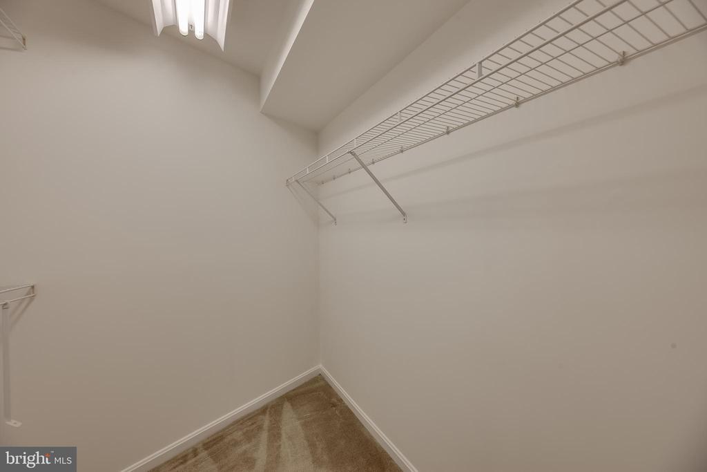 Walk-in closet for basement bedroom - 7258 LIVERPOOL CT, ALEXANDRIA