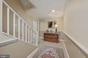 Lower level hall (from front stairs) - 1901 ALLANWOOD PL, SILVER SPRING