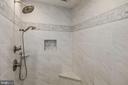 PrimaryShower w/dual shower heads, frameless glass - 1901 ALLANWOOD PL, SILVER SPRING