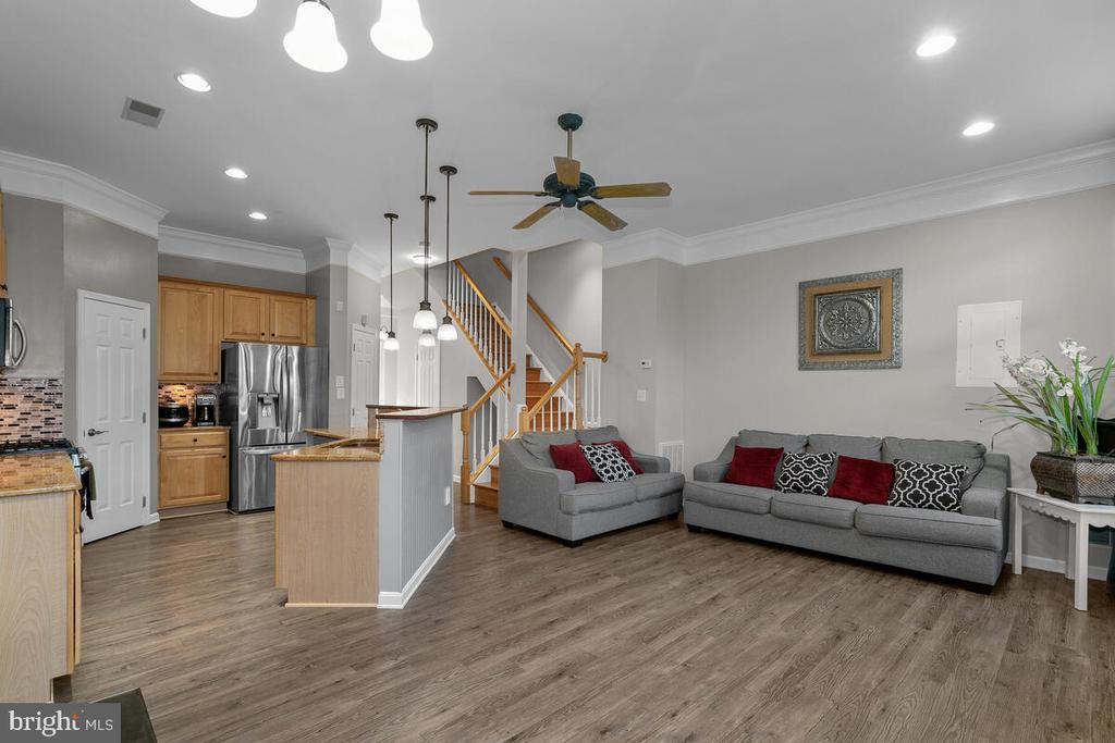 KITCHEN AND LIVING ROOM - 25487 FLYNN LN, CHANTILLY