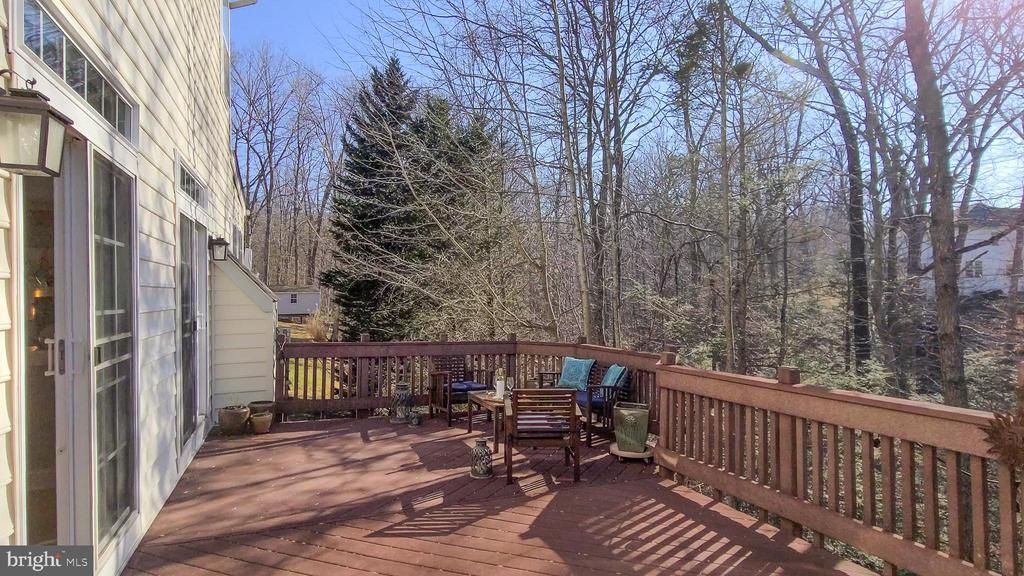 Trex deck with private wooded views - 11322 SCOTT PETERS CT, MANASSAS