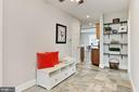 Hall w/ shelving, ceiling fan, tile floor - 9401 OX RD, LORTON