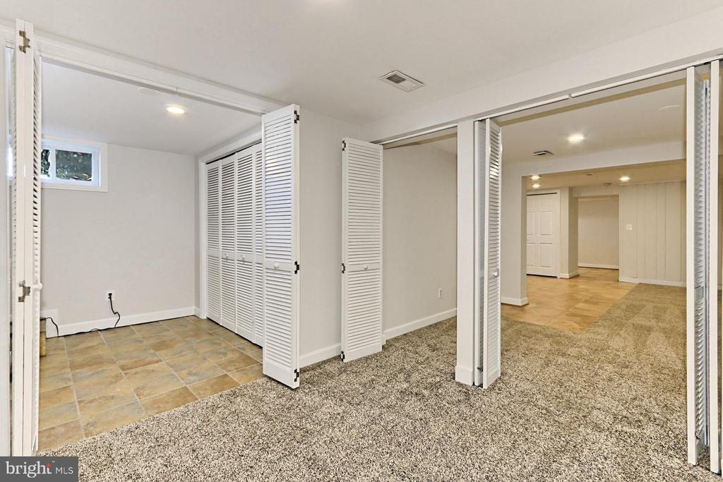 View of closet/storage area & rec room - 9401 OX RD, LORTON