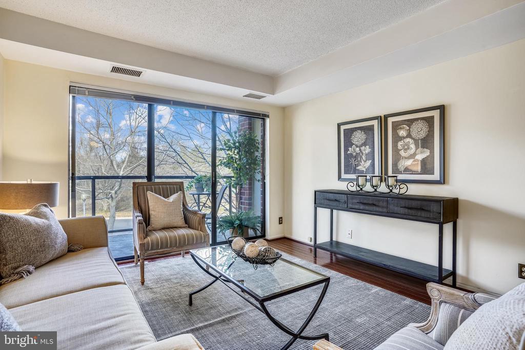 Extra wide  glass door lets in  tons of sunlight - 2100 LEE HWY #344, ARLINGTON