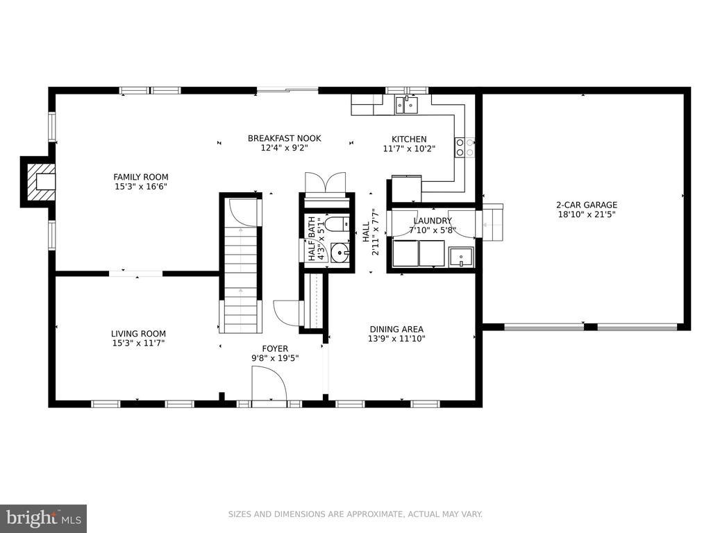 Floor Plan: Main Level - 6482 EMPTY SONG RD, COLUMBIA