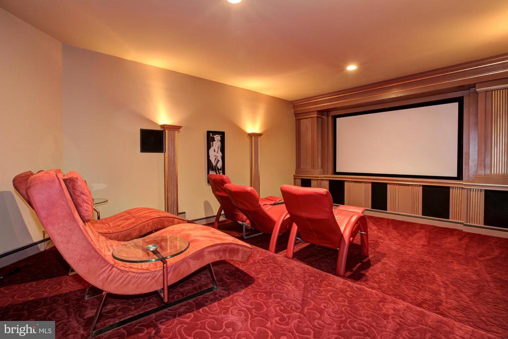 Lower Level Movie Theater - 15325 MASONWOOD DR, GAITHERSBURG
