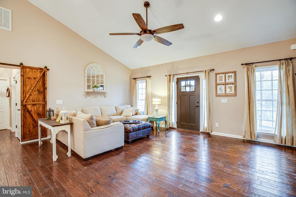 Open Living, Dining, and Kitchen - 229 COLEBROOK RD, FREDERICKSBURG
