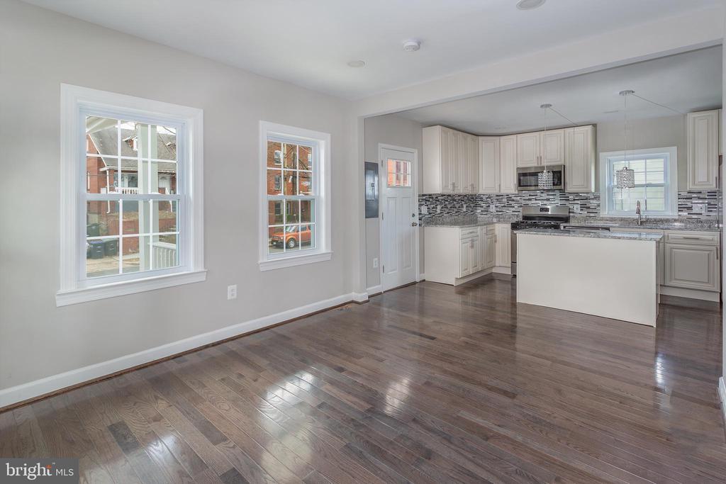 Living Room Toward Kitchen - 4502 DIX ST NE, WASHINGTON
