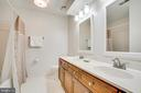Hall bath features double vanity - 6102 NEW PEMBROOK LN, FREDERICKSBURG