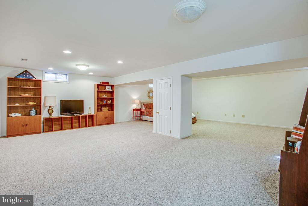 Basement is immense and has lots of room - 6102 NEW PEMBROOK LN, FREDERICKSBURG