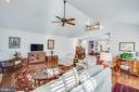 Cathedral ceiling in family room is stunning - 6102 NEW PEMBROOK LN, FREDERICKSBURG