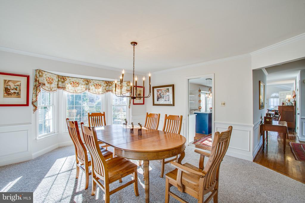 Formal dining room is quite large - 6102 NEW PEMBROOK LN, FREDERICKSBURG
