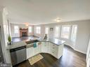 Kitchen facing into family room - 10809 WISE CT, SPOTSYLVANIA