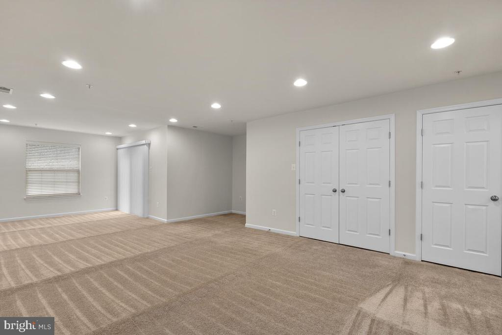 Recessed Lighting and Storage in Recreation Room - 7839 RIVER ROCK WAY, COLUMBIA