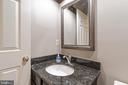 Half bath on main floor - 129 NORTHAMPTON BLVD, STAFFORD
