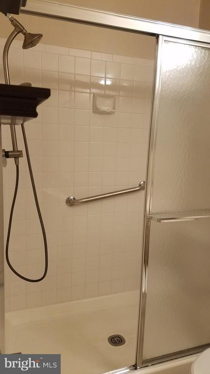2nd Bath Shower with  Handrail - 5624 WILLOUGHBY NEWTON DR #11, CENTREVILLE