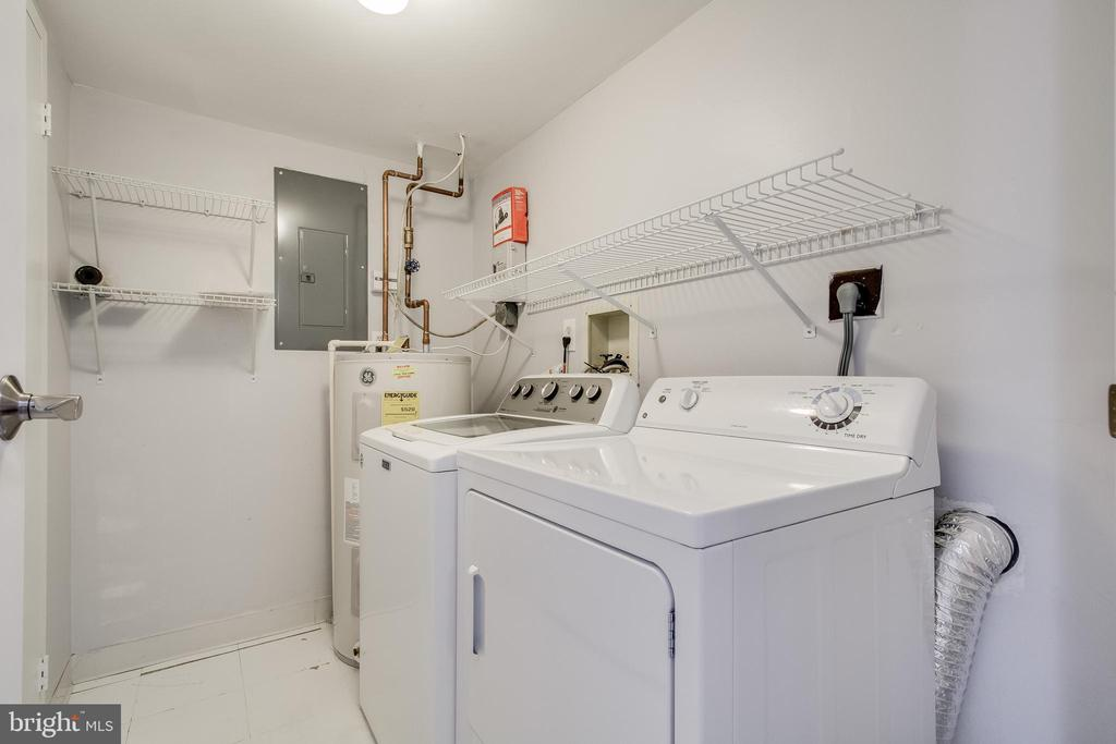 Laundry room! Washer and Dryer included! - 3031 BORGE ST #101, OAKTON