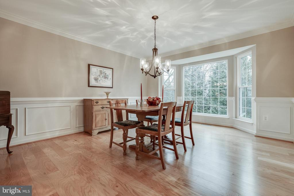 Dining Room with Fresh Paint & Bay Window - 609 MICHAEL PATRICK CT SE, LEESBURG