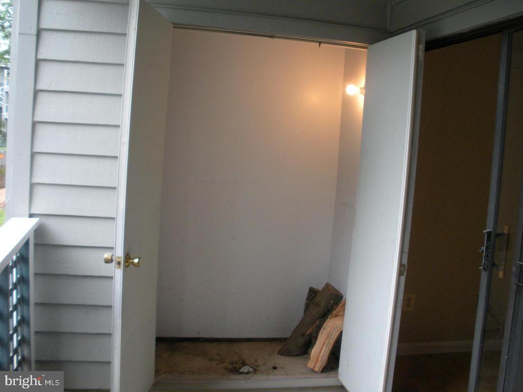 Lighted storage closet next to patio - 11705-C SUMMERCHASE CIR #1705-C, RESTON