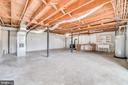 Large unfinished portion of basement - 9035 DAHLGREN RD, KING GEORGE