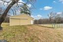 30x30 garage with 220 amp electrical outlets - 9035 DAHLGREN RD, KING GEORGE