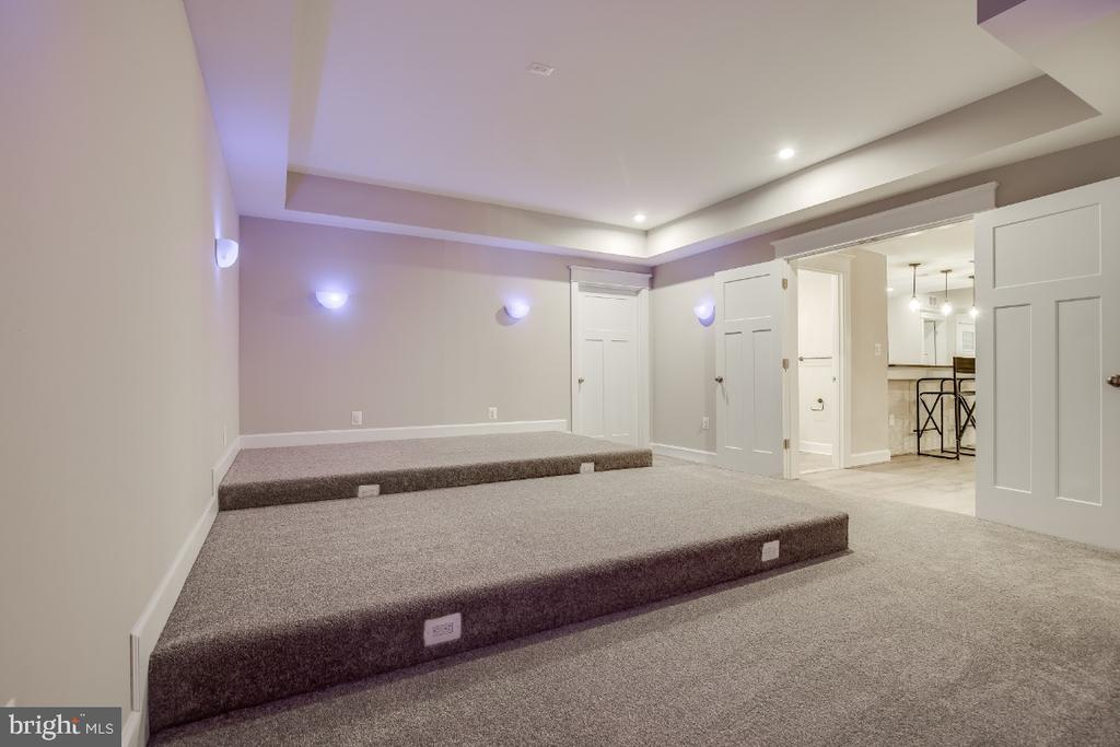 Tiered Media Room ready for seating install - 6723 VALLEY BROOK DR, FALLS CHURCH