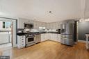 Kitchen #1 with stainless appliances - 515 7TH ST SE, WASHINGTON