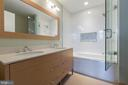 Upper level master bath - 1700 CLARENDON BLVD #157, ARLINGTON
