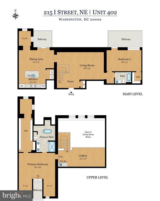 Amazing 2 story condo w/ Loft Overlooking Fam Room - 215 I ST NE #402, WASHINGTON
