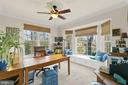 Bay Window in Office Fills Room with Lots of Light - 11208 BLUFFS VW, SPOTSYLVANIA