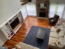 Family room with 2 story stone gas fireplace - 2 ONYX CT, STAFFORD