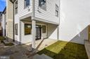 Rear Covered Patio and Green Space - 309 N PATRICK ST, ALEXANDRIA