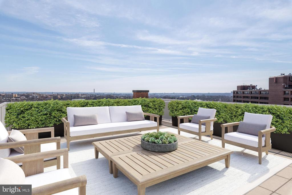 Private Roof Top Terrace - 2660 CONNECTICUT AVE NW #PH-D, WASHINGTON