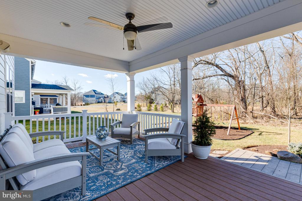 Inviting Covered Rear Porch - 23581 AMESFIELD PL, ALDIE