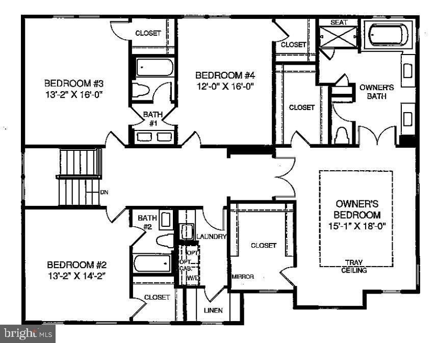 Upper Level Floorplan - 23581 AMESFIELD PL, ALDIE