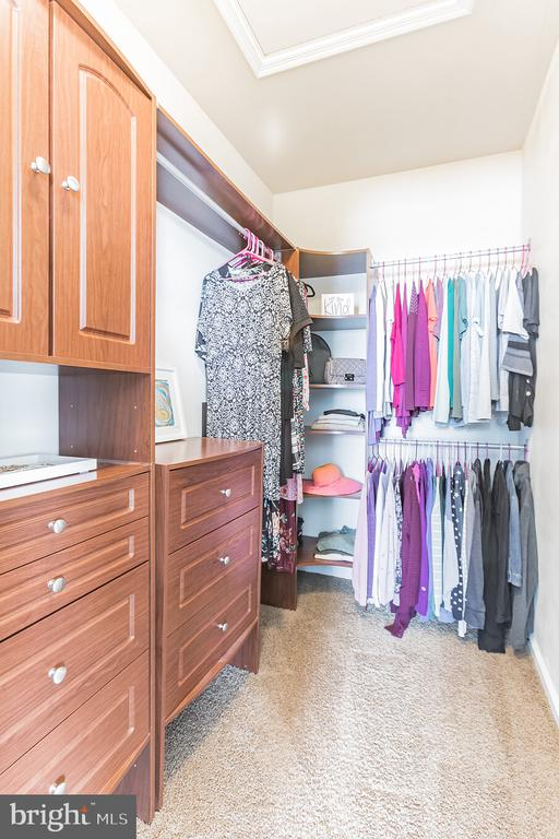 The walk-in closets have AMAZING organizers!!! - 22702 VERDE GATE TER, ASHBURN