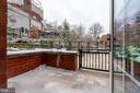 Private patio off 2nd bedroom - 1411 KEY BLVD #211, ARLINGTON