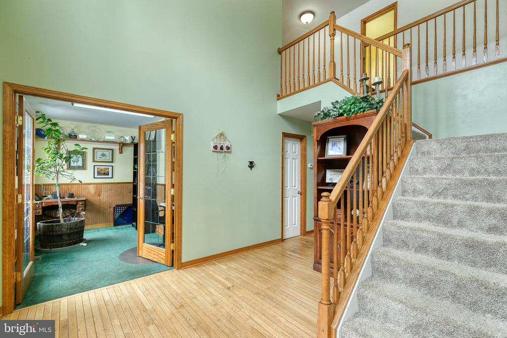 Two story foyer - double glass door open to office - 24 CARDINAL DR, FREDERICKSBURG