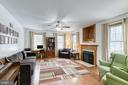 Spacious family room with fireplace - 24 CARDINAL DR, FREDERICKSBURG