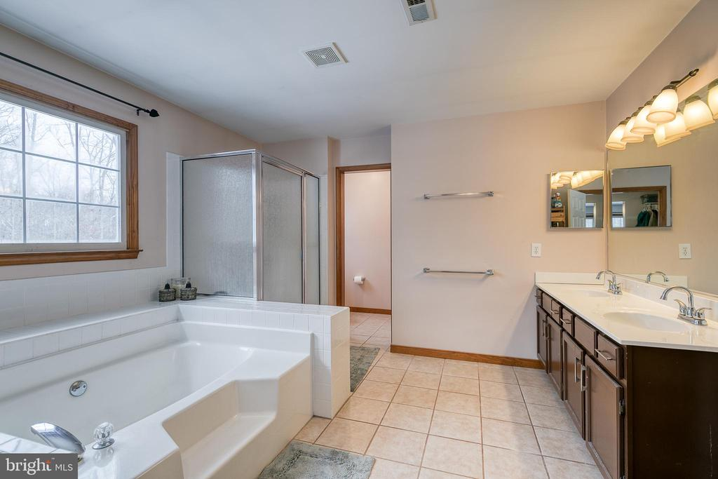 Primary bath with soaker tub/walk in shower - 24 CARDINAL DR, FREDERICKSBURG