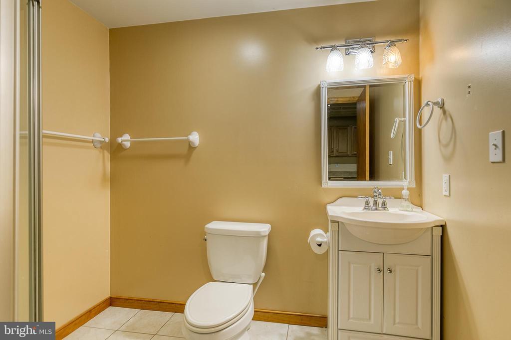 lower level bathroom with shower - 24 CARDINAL DR, FREDERICKSBURG