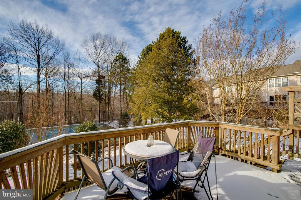 Deck off Kitchen overlooks Tennis Courts and Trees - 13536 RUDDY DUCK RD, CLIFTON