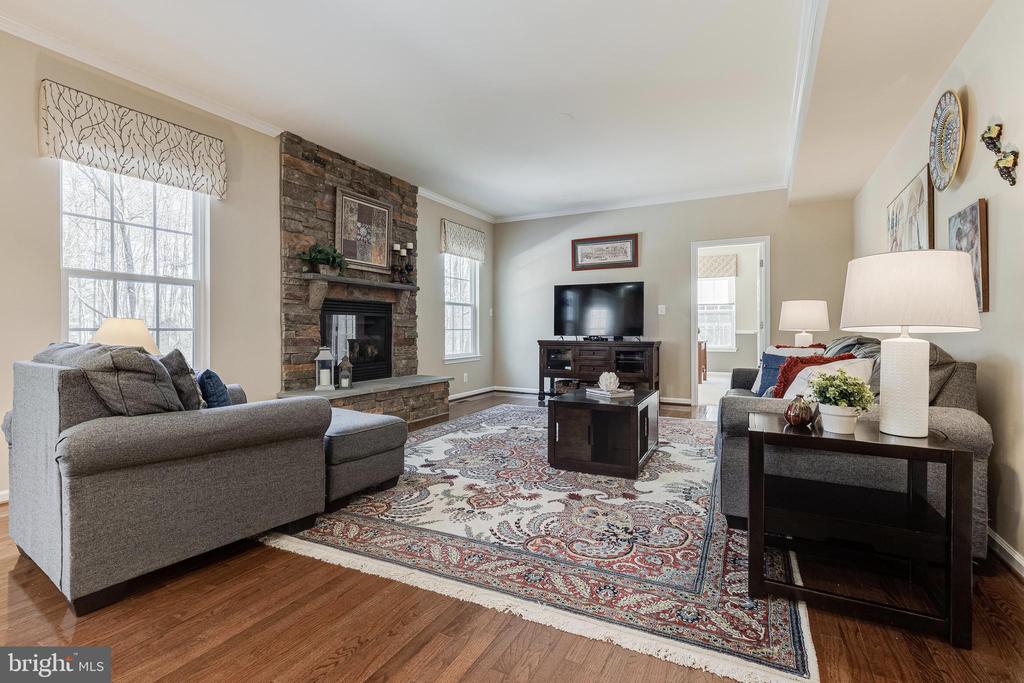 Family Room has Gas Fireplace - 8353 LONGFIELDS LN, ALEXANDRIA