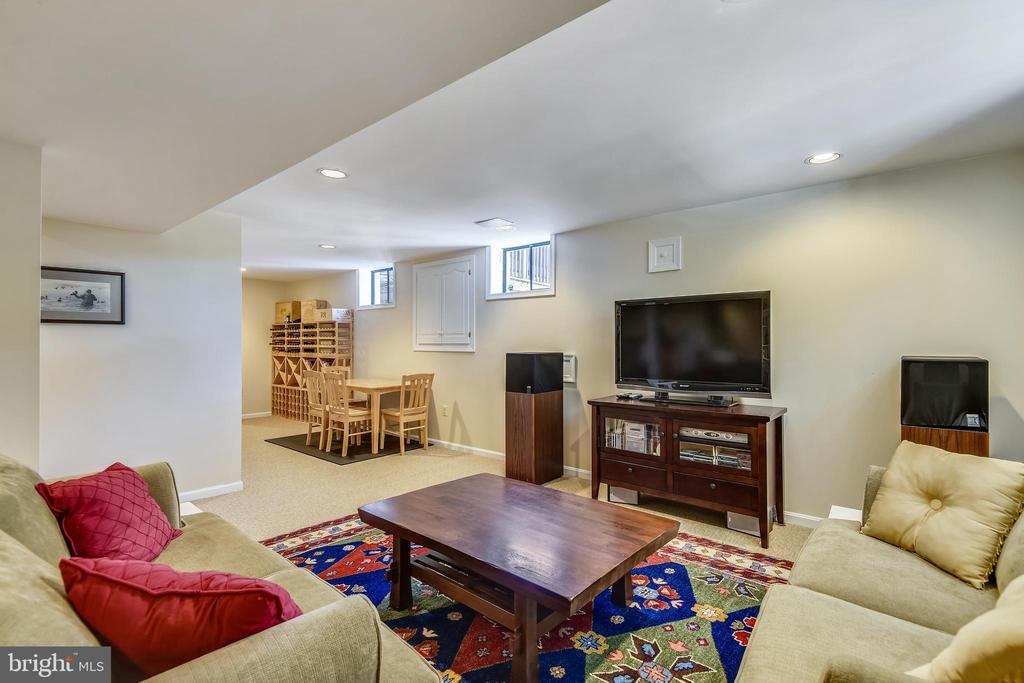 Lower Level Living Area Media Center - 11588 LAKE NEWPORT RD, RESTON