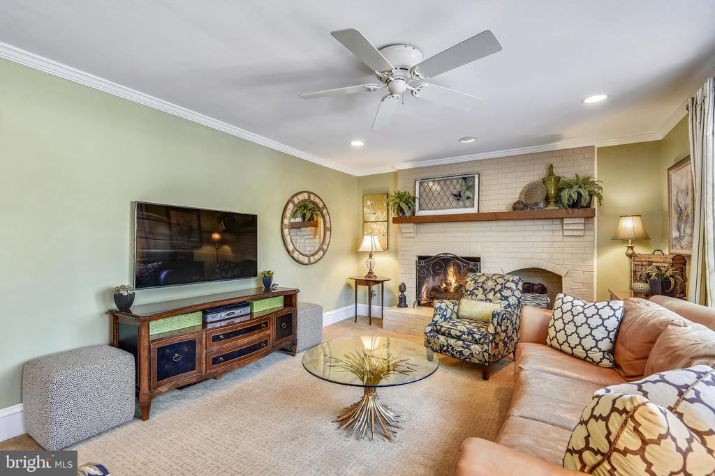 Main Level Family Room with Fireplace - 11588 LAKE NEWPORT RD, RESTON