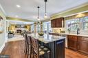 Kitchen with Views to the rear deck & yard - 11588 LAKE NEWPORT RD, RESTON