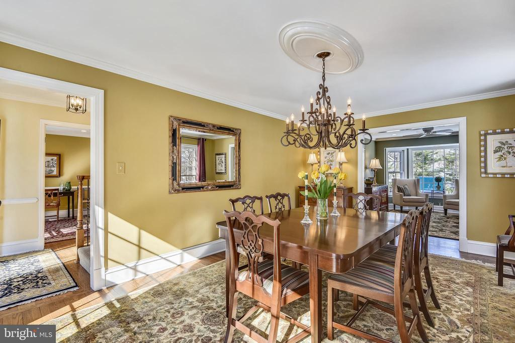 Dining Room View from Foyer - 11588 LAKE NEWPORT RD, RESTON