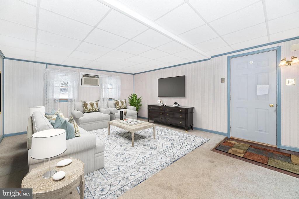 Virtually Staged Family Room - 12216 AUBURN RD, THURMONT