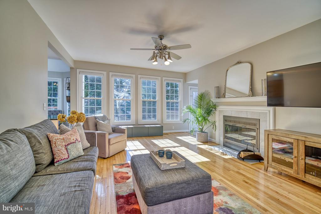 Sun-Filled Family Room Leads to Back Yard - 21033 FOWLERS MILL CIR, ASHBURN
