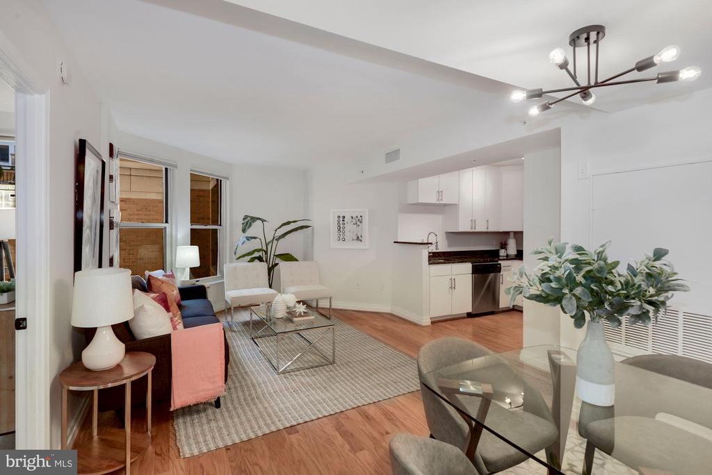 Open floor plan - 915 E ST NW #403, WASHINGTON
